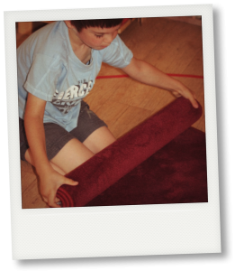 Rouler le tapis